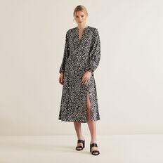 Animal Split Dress  MULTI  hi-res
