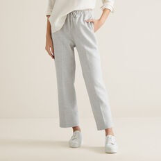 Slim Leg Drawcord Pant  LIGHT ASH MARLE  hi-res