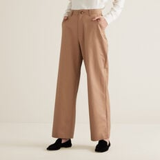 Wide Leg Pleat Pant  WALNUT  hi-res