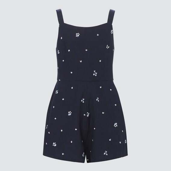 Embroidered Playsuit  MIDNIGHT  hi-res