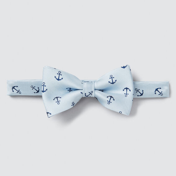 Satin Anchor Bow Tie  PALE BLUE  hi-res