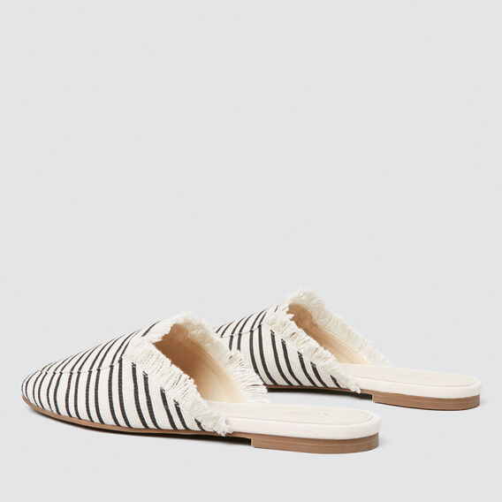 Luella Stripe Mule  CREAM/BLACK  hi-res