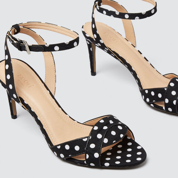 Minnie Polka Dot Heel  BLACK/WHITE  hi-res
