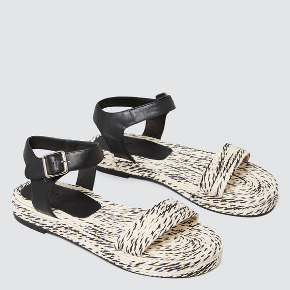 Peggy Contrast Sandal  BLACK/WHITE  hi-res