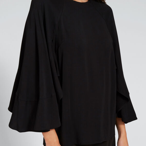 Ruffle Sleeve Blouse  BLACK  hi-res