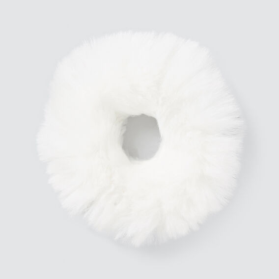 Fur Scrunchie  WHITE  hi-res