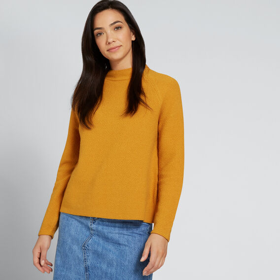 Textured Sweater  MUSTARD TWIST  hi-res