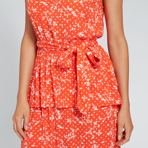 Peplum Detail Dress  FLORAL  hi-res