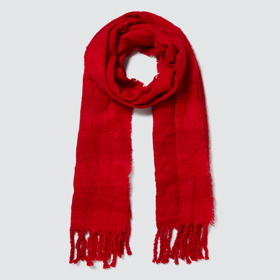 Bold Check Scarf  RED  hi-res