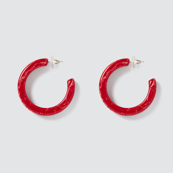 Coloured Resin Hoops  FIERY RED  hi-res