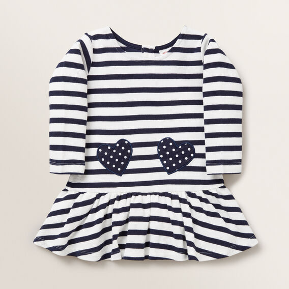 Heart Pocket Dress  NAVY  hi-res