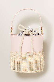 Spliced Wicker Basket  ICE PINK  hi-res