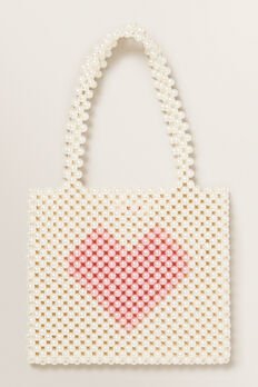 Beaded Mini Tote  WHITE  hi-res