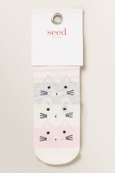 Stack-A-Cat Sock  MULTI  hi-res