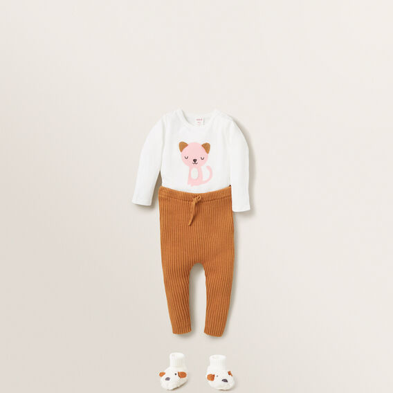 Chenille Cat Bodysuit  CANVAS  hi-res