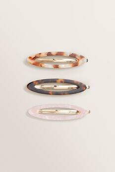 Oval Tort Hair Pins  MULTI  hi-res