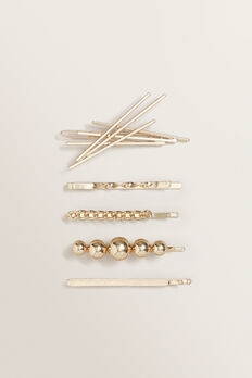 Metal Hair Pin Pack  GOLD  hi-res