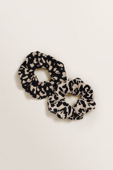 Ocelot Scrunchie 2 Pack  ANIMAL  hi-res