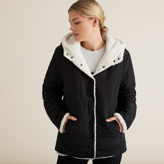 Sherpa Jacket  BLACK  hi-res