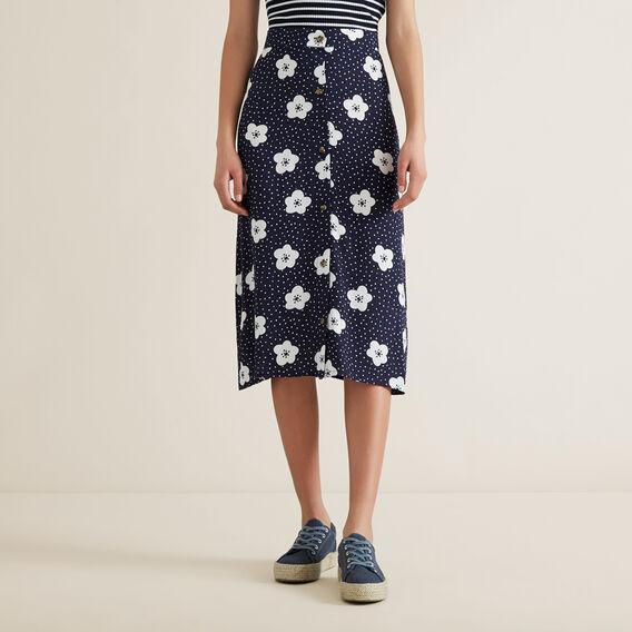 Floral Midi Skirt  MIDNIGHT  hi-res