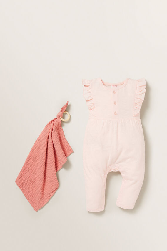 Slouchy Frill Jumpsuit  APRICOT  hi-res