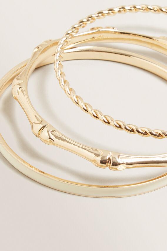Bamboo Bangle Set  GOLD  hi-res