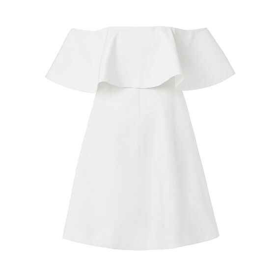 Off Shoulder Frill Dress  WHITE  hi-res