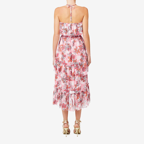Off Shoulder Frill Dress  FLORAL  hi-res