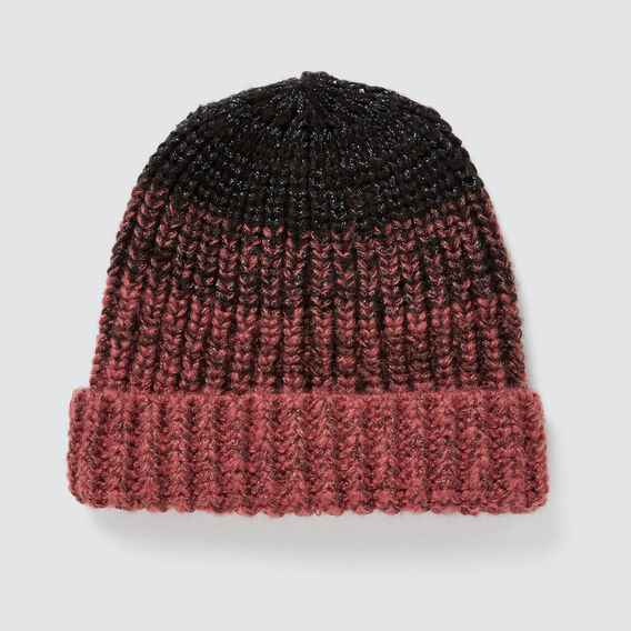 Gradient Knit Beanie  NAVY/ DUSTY ROSE  hi-res