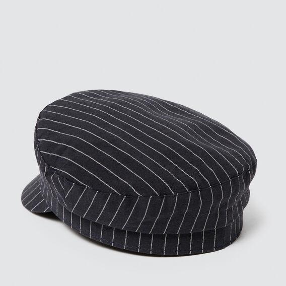 Baker Boy Cap  NAVY STRIPE  hi-res