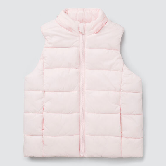 Hooded Puffa Vest  ICE PINK  hi-res