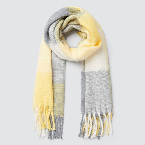 Cosy Check Scarf  BUTTER  hi-res