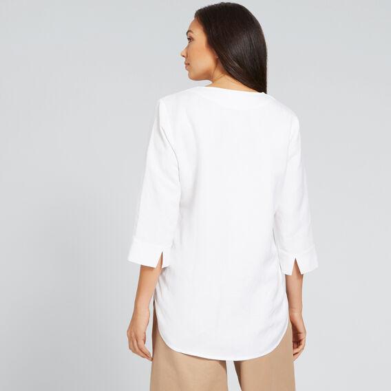 Linen Blend Blouse  WHISPER WHITE  hi-res