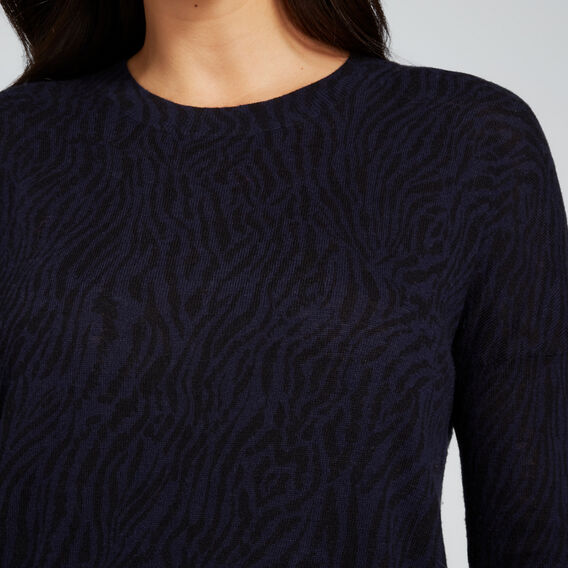 Animal Print Sweater  NAUTICAL BLUE ANIMAL  hi-res