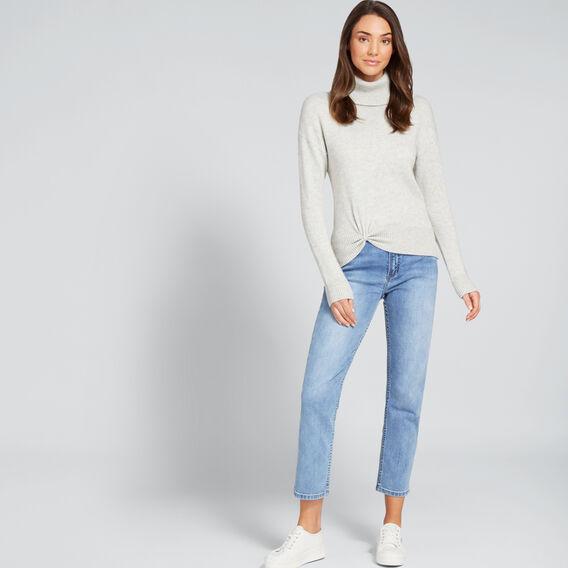 Twist Front Sweater  LIGHT ASH MARLE  hi-res