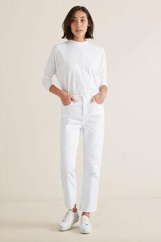Casual Slim Leg Jean  WHITE  hi-res