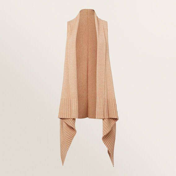 Sleeveless Knit Poncho  GOLDEN TAN  hi-res