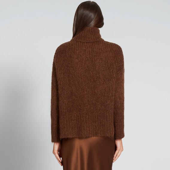 Mohair Roll Neck Knit  BURNT TOFFEE  hi-res