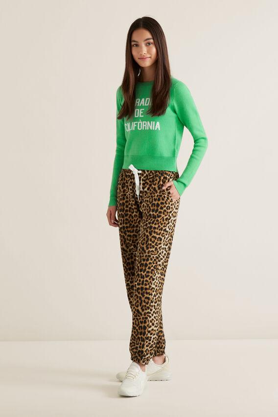 Slogan Sweater  WASHED GREEN  hi-res