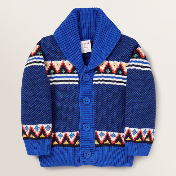 Knitted Fairisle Cardigan  MULTI  hi-res