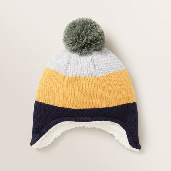 Colour Block Ear Beanie  MULTI  hi-res