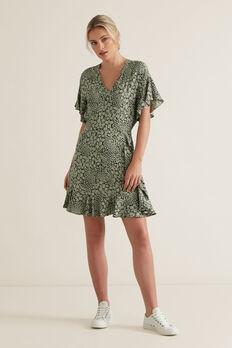 Spliced Animal Print Dress  SPLICED ANIMAL  hi-res