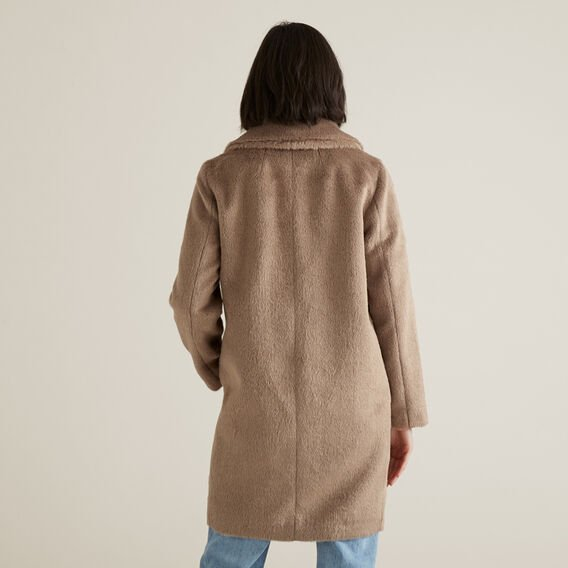 Luxe Textured Coat  WALNUT  hi-res