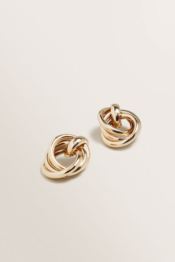 Linked Earrings  GOLD  hi-res