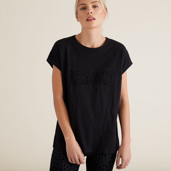 League Short Sleeve Tee  BLACK  hi-res