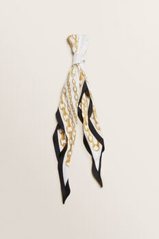 Diamond Neck Scarf  CREAM/GOLD  hi-res