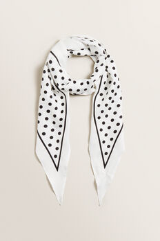 Diamond Neck Scarf  CREAM/BLACK  hi-res