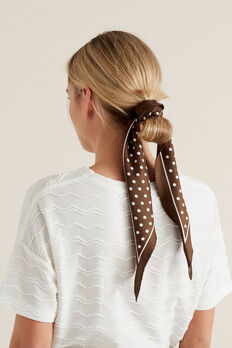 Diamond Neck Scarf  CHOCOLATE  hi-res