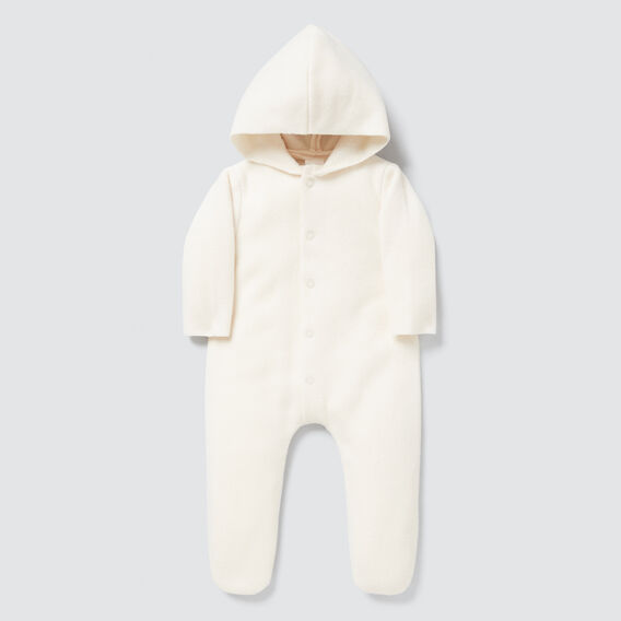 Hooded Felt Jumpsuit  RICH CREAM  hi-res