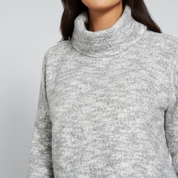 Chunky Roll Neck Top  MID GREY MARLE  hi-res